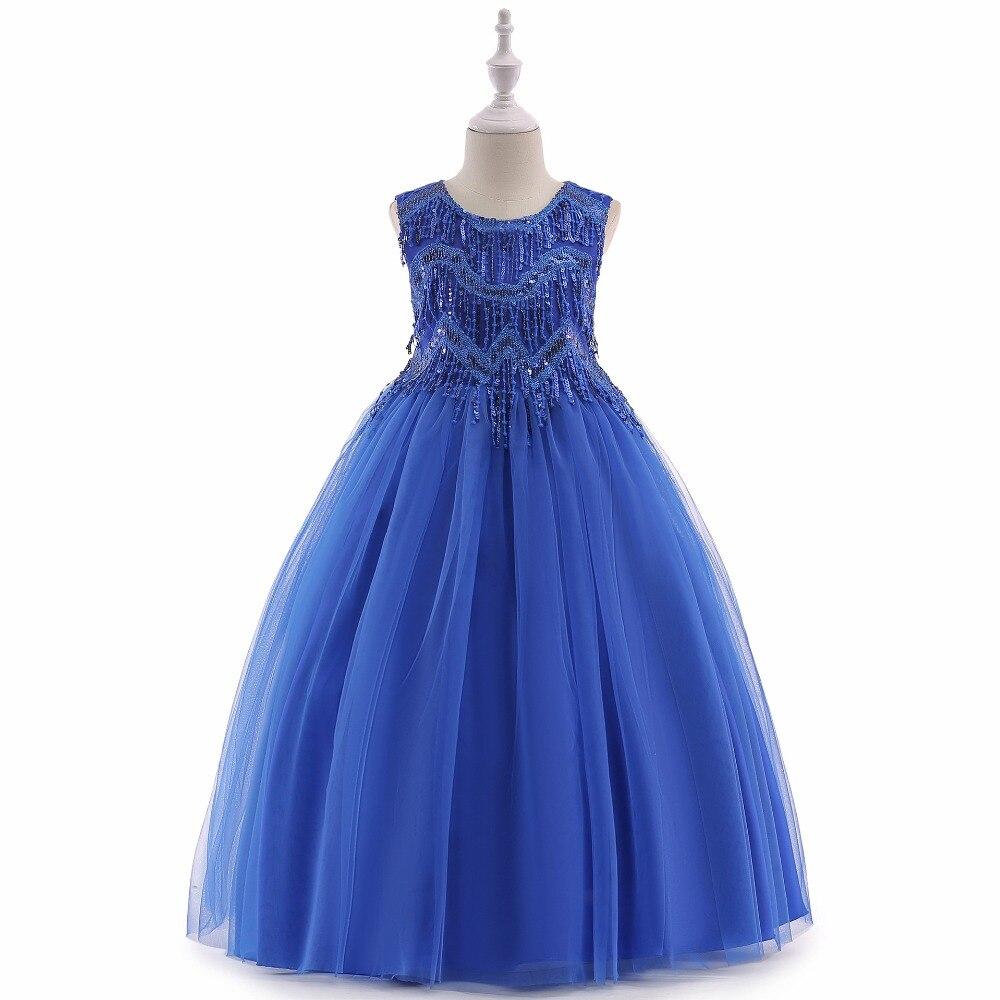 Ball Gown Lace   Flower     Girl     Dresses   Sleeveless O-Neck   Girls   Kids Evening Gowns First Communion   Dresses   2019