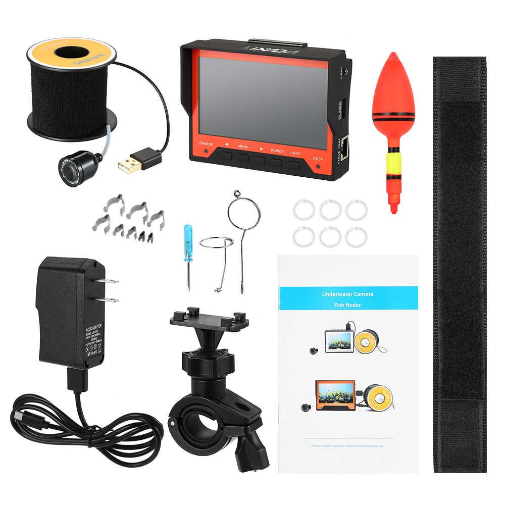 Lixada 15M 1000TVL 4.3 Underwater Ice Fishing Camera Fish Finder with Wrist Strap 8 Infrared LED Night Vision Camera