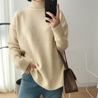 CamKemsey Autumn Winter Warm Cashmere Sweater Women Pullovers 2018 Long Sleeve Brief Turtleneck Knitted Sweater Women