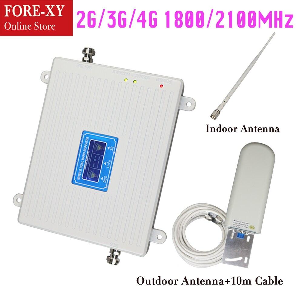 Répéteur LCD 2G 3G 1800 2100 amplificateur de signal à double bande solution réseau mobile dcs wcdma amplificateur de Signal cellulaire