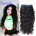 7A New Batch Good Iwish Hair Peruvian Water Wave Virgin Hair Natural Black Peruvian Virgin Hair Water Wave Wet Wavy Human Hair