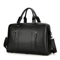 PURANI Black Men Travel Bags Overnight Big Duffel Bag Weekend Travel Large Leather Tote Bags Hand Luggage Crossbody Travel Bag
