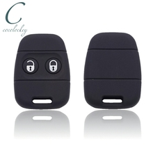 Cocolockey Rubber Silicone Key Cover Fit for Rover MG Land Rover Defender Freelander 2Buttons Remote Key Alarm Key Case Shell
