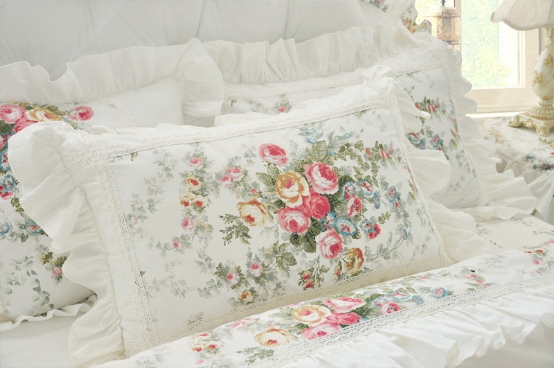 floral printing lace princess bedding set wedding twin full queen super king size bed set comforter duvet cover sheet bedding sets from home