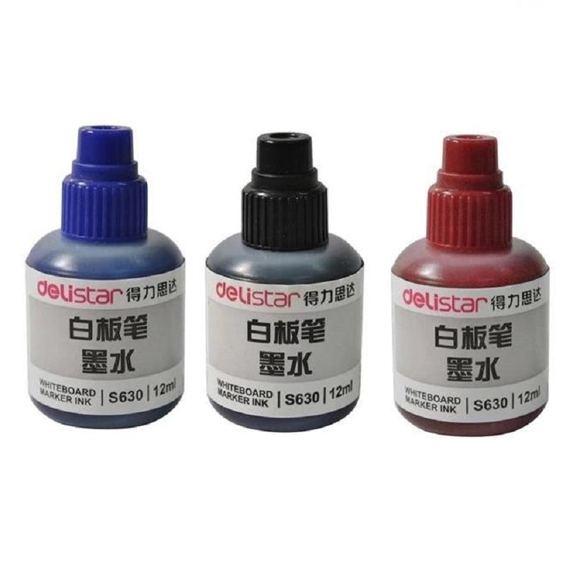 deli S630 whiteboard marker pen ink 12mm red/black/blue color <font><b>school</b></font> & office stationery supplies