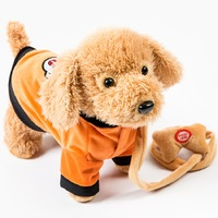 Elektrik tasma köpek renkli Teddy Oyuncak Müzik makine uzaktan kumanda Tasma köpek elektronik oyuncaklar Çocuk Noel hediyesi Için