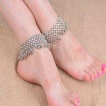 Чешский серебряной бесконечность в форме сердца симпатичные колокольчики кисточкой ножной браслет лодыжке ноги босиком для женщин девушки ювелирные изделия 1 шт.
