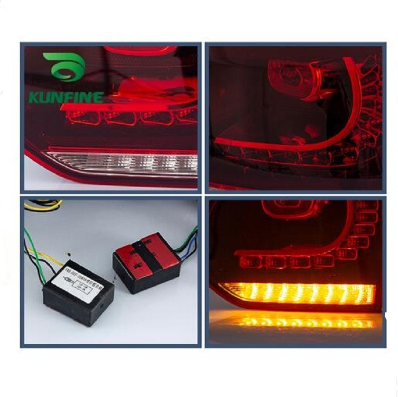 Pair Of Car Tail Light Assembly For VOLKSWAGEN GOLF 6 2008-2013 Brake Light flowing water flicker With Turning Signal Light