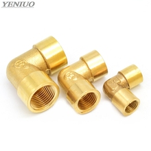 Female x Thread  1/8 1/4 3/8 1/2 3/4 1 90 Deg Brass Elbow Pipe Fitting Connector Coupler For Water Fuel Copper