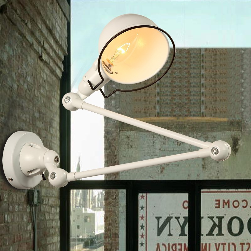 Vintage Industrial Task Wall Light E14 1 Light with Swing Arms 220-240V Wall sconces hemingway e a farewell to arms
