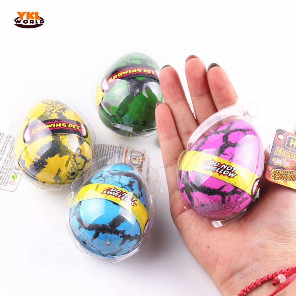 YKLWorld 4pcs Large Colorful Water Hatching Inflation Dinosaur Egg Watercolor Cracks Grow Egg Novelty Toys Kids & Baby Gift -45