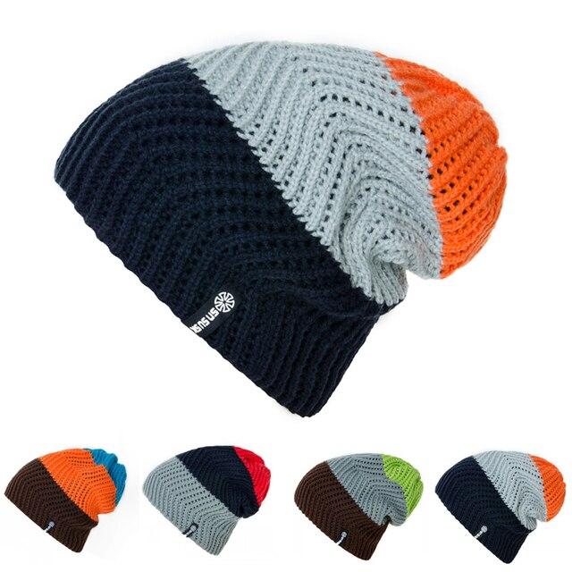Women Winter Knitted Hats Gorro Beanie For Men Women Beanies Hat Bonnet  Outdoor Sport Skiing Chapeu Cap Beanies Warm For Men-in Skullies   Beanies  from ... 2d452d726f