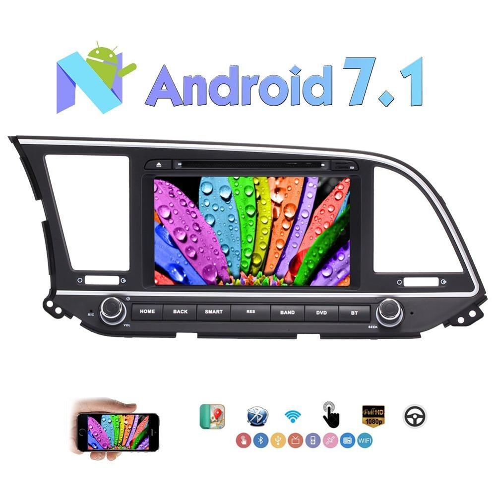 Android 7 1 Nougat 2 Din 8 Stereo Car DVD Player for Hyundai Elantra Support GPS