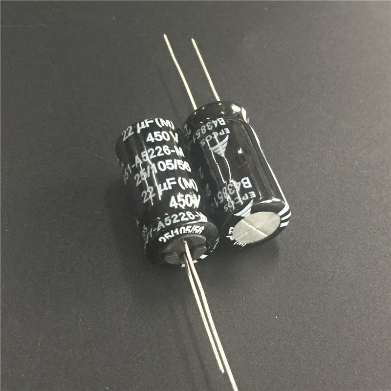 10pcs 22uF 450V EPCOS B43851 Series 12.5x25mm 450V22uF Aluminum Electrolytic Capacitors