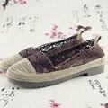 Весной и осенью вышитые туфли старого Пекина Zapatos Де Mujer скольжения сухожилия в конце обувь на низких каблуках женщина a140