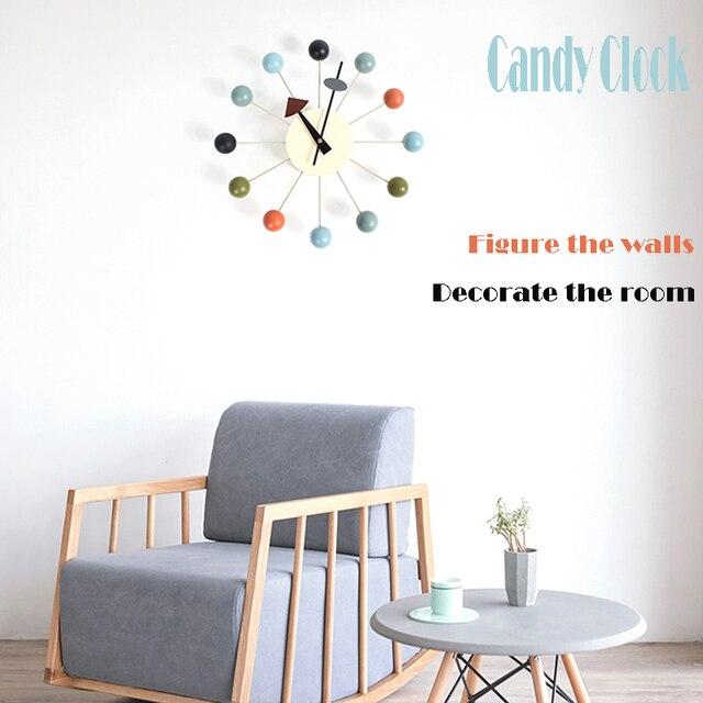 MỚI Thời Trang đồng hồ Phổ Biến nhà thiết kế đẹp sang trọng hiện đại trang trí nhà tự làm bóng gỗ Đồng hồ treo tường Kẹo Đồng hồ Đồng hồ Đơn giản