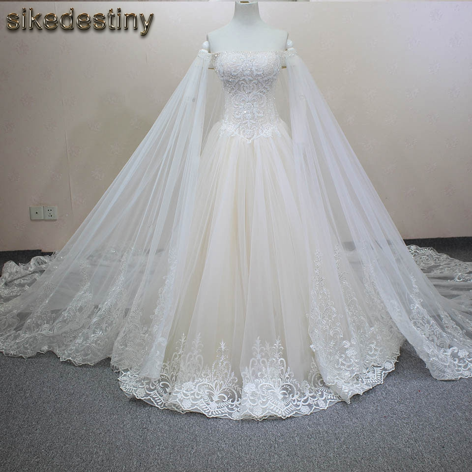 Buy handmade luxury crystals beaded a for Veil for champagne wedding dress