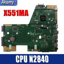 Amazoon X551MA Motherboard Laptop UNTUK ASUS X551MA X551M X551 F551MA D550M Uji Asli Mainboard 2 Core CPU N2840(China)