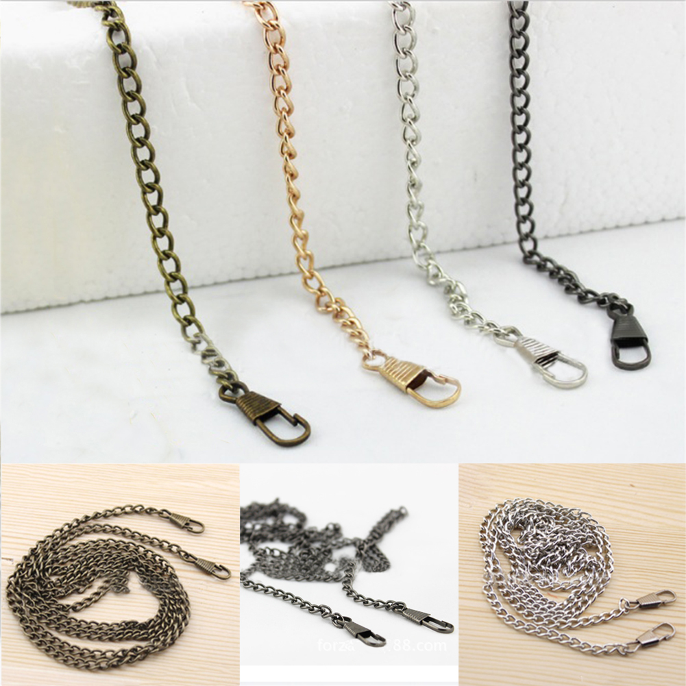 Long 120cm Metal Purse Chain Strap Obag Handles Replacement For Handbag Shoulder Bag Strap Gold Silver Copper Bag Accessories