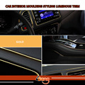 High Quality 3M 9.8ft Car Interior Grille Vent Rim Moulding Decoration Styling Trim DIY Strip Luminous Gold Easy Install Line