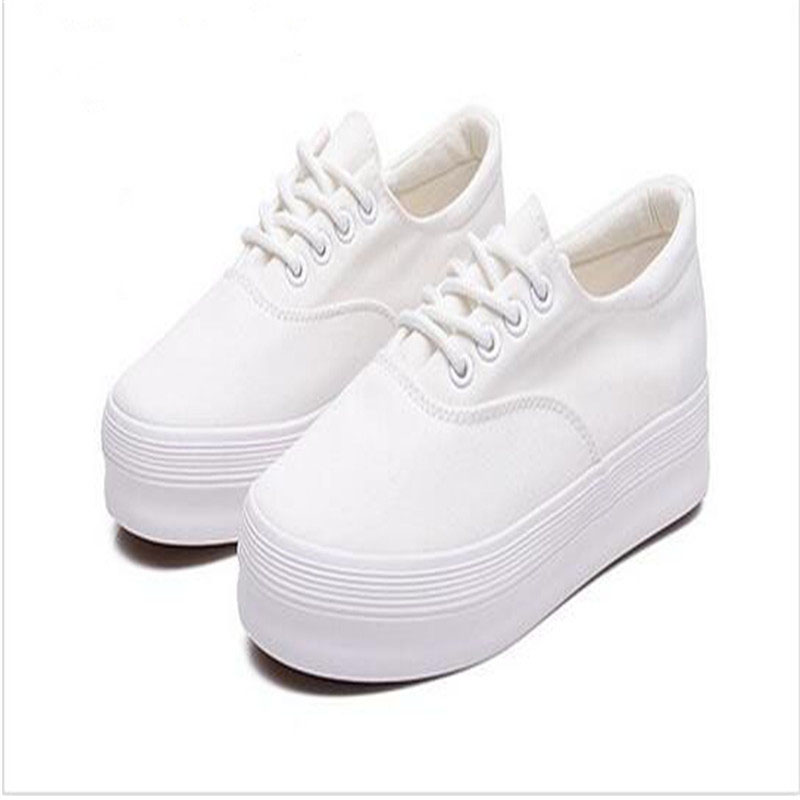 Creepers Sale Basic Casual Solid Lace-up Round Toe Rubber Spring/autumn The New Spring And 2017 Students Shoe Canvas Shoes hot sale mens dress shoes top quality spring autumn new men casual shoes beautiful round toe lace up flats creepers brogue shoes