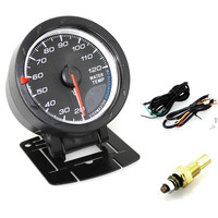 Universal 2.5 Inch 60mm Car Vehicle Motor Water Temperature Temp Gauges Meter Red & White Lighting for 20 to 120 Celsius