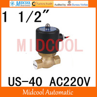 Нам 40 Высокое качество высокая температура пара электромагнитный клапан AC220V порт 1 1/2 две позиции, с подкладкой