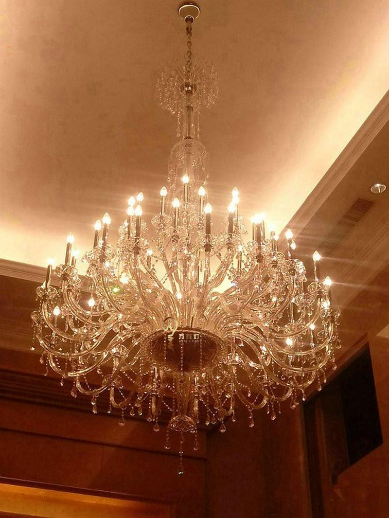 55-72 svjetla moderni LED svijećnjaci kristalne svjetiljke veliki - Unutarnja rasvjeta - Foto 6