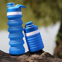 Bicycle Cycling Cup Sport 500ml Drinking Water Bottle Carabiner Clip Camping Bicycle Rubber Cup