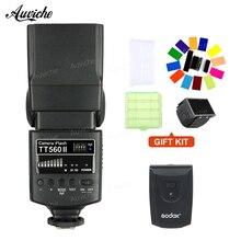 Godox TT560II Sem Fio Flash Speedlite com Build-in 433 MHz Sem Fio gatilho para Canon Nikon Pentax Olympus DSLR Câmeras