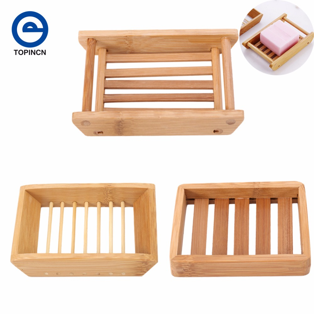 1Pc Bathroom Accessories Natural Wood Soap Dish Storage Soap Holder ...