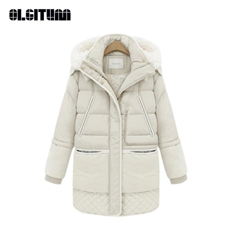 New 2018 Winter Women Cotton Coat Jacket Padded Slim Hooded Long Parkas Female Thicken Warm Jacket Outwear CC087