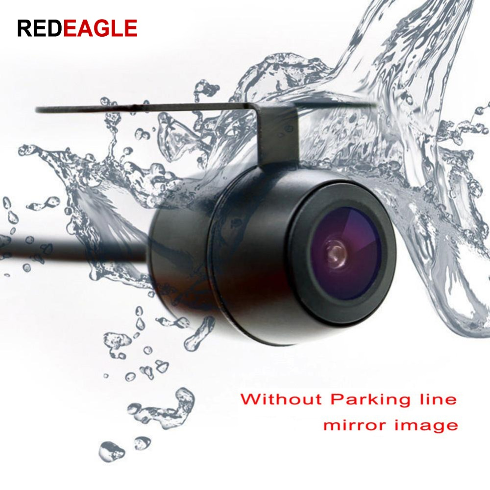 REDEAGLE 160 Degree Wide Wide Angle 600TVL Rear View Security Camera Mirror Image Anti Fog Waterproof Metal CCTV Analog Camera