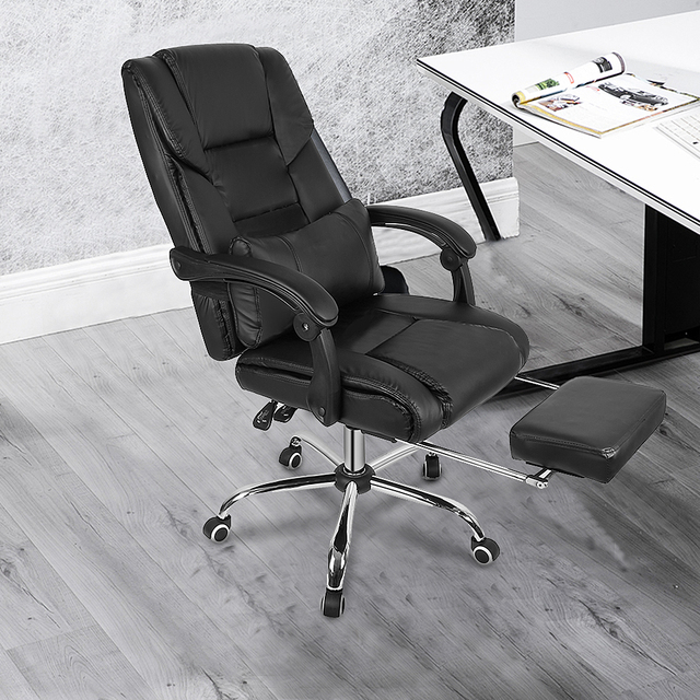 High Quality Office Chairs With Pillow Foot Pad Seat Back Adjustable Lifting Tilt Swivel Chair Artificial Leather Game Chair HWC