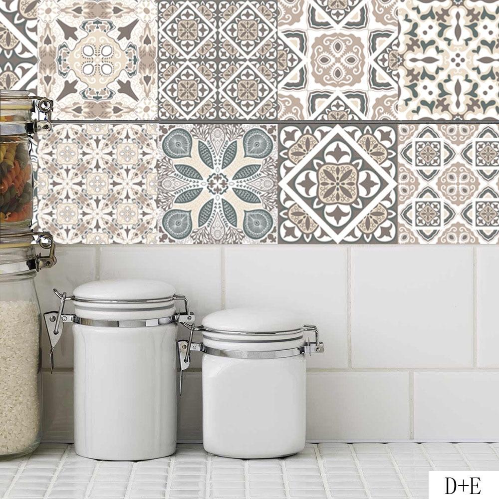 European Retro Style Pattern Tile Stickers Pvc Kitchen Bathroom