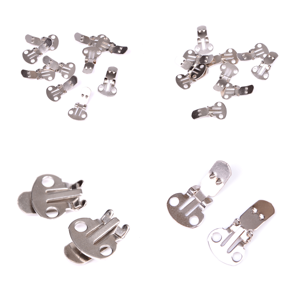 10PCS/Set  Silver Color Blank Stainless Steel Flower Shoes Clips On Findings DIY Craft Buckles For Shoes10PCS/Set  Silver Color Blank Stainless Steel Flower Shoes Clips On Findings DIY Craft Buckles For Shoes