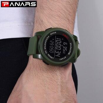 PANARS Sport Watch Men LED Watch Waterproof Man Wristwatch Mens Digital Watches Fashion Men Mens Watches Top Brand Luxury Saat