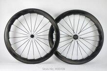Brand New 454 700C 58 millimetri fossette bici della Strada piena della fibra del carbonio della graffatrice cerchio di bicicletta wheelset del carbonio moonscape ondulato crow S Libera la nave