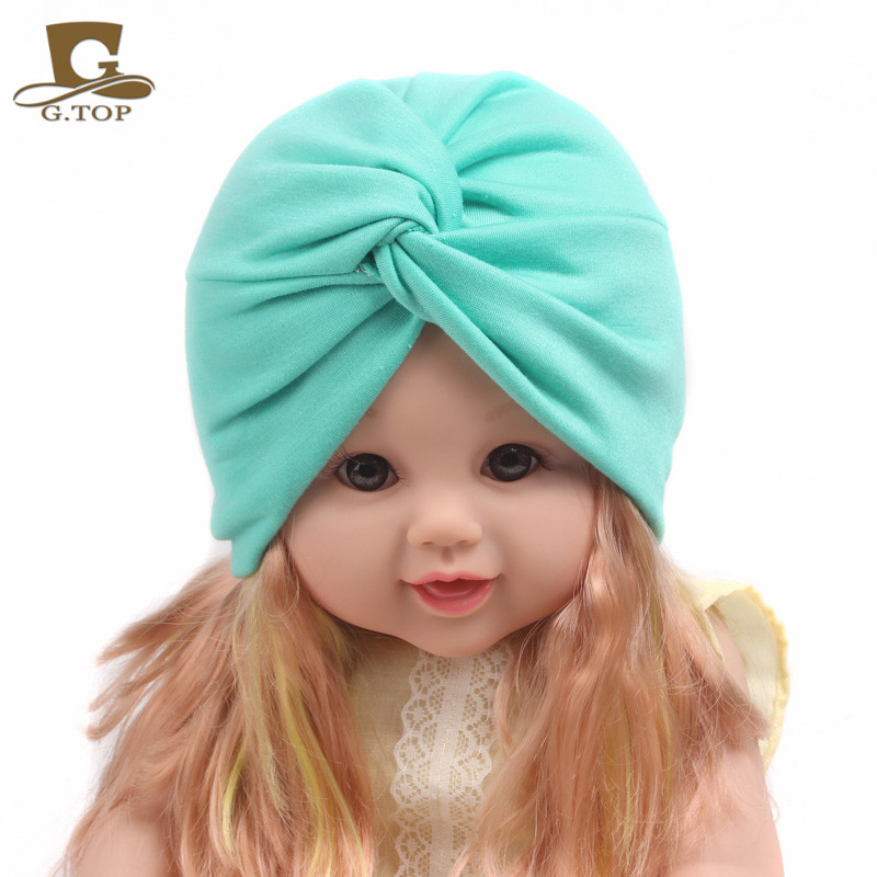 ed82b88ba43 Detail Feedback Questions about New Solid Kids Plain Twist Turban Hair Cap  Baby Beanie Headbands Girls Bandanas Children Hair Accessories Fits 2 8  years old ...