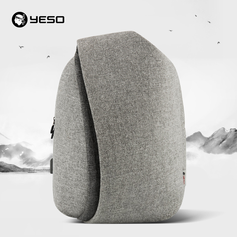YESO New Fashion Laptop Backpack Men With USB Charging 15 6 Inch Waterproof Large Capacity School