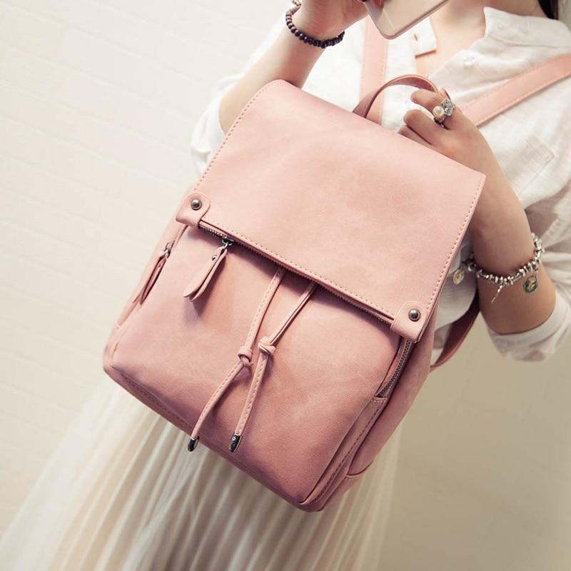 New Arrival Summer Women Backpacks Canvas College Bags For Teenage Girls Ladies' Travel Backpack Black Pink School Bags #5