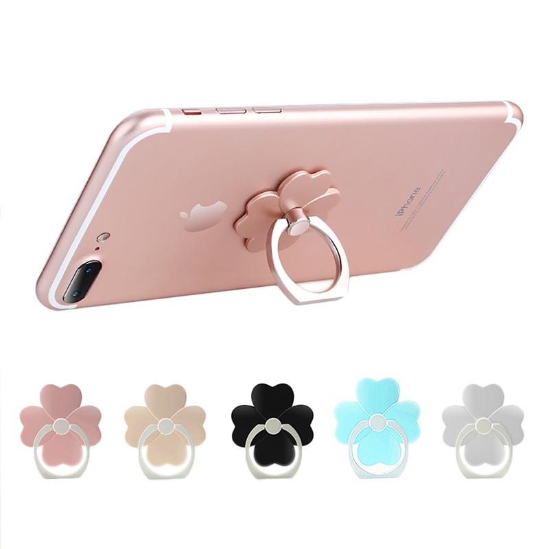 2pcs/lot Universal Flower Rabbit Bear Design 360 Degree Finger Ring Mobile Phone Grip Stand Watch TV Film Phone Stand Holder