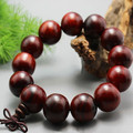High Quality Natural 20MM Laos Red Acid-wood Prayer Beads Fortune-bringing Handmade Taiwanese Elastic Strings Bracelet for Men