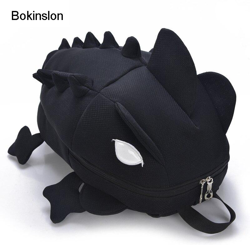 Bokinslon Boys Backpack Student Fashion All-Match Oxford Boy Travel Bag Creative Cartoon Childrens Backpack Boys