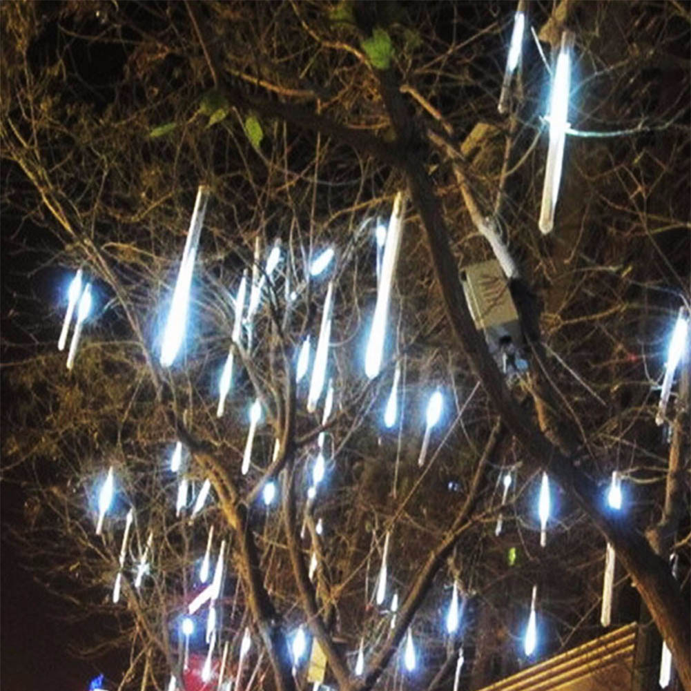 TSLEEN New 30cm 50cm Meteor Shower Falling Star Rain 2835 LED Lamp Xmas Tree String Light 4 Colors For Choice