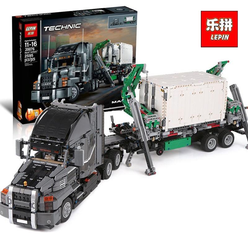 Lepin 20076 new Technic Series The Mack Big Truck Set 42078 Building Blocks Bricks Educational LegoINGlys For children As Gifts lepin 20076 new technic series the mack