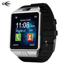 Marque LED Électronique intelligent Montre-Bracelet Étanche Sport Or Montre Smart Watch DZ09 Podomètre Pour iPhone Android Montre-Bracelet Hommes