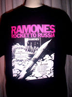 RAMONES T SHIRT. ROCKET TO RUSSIA. Punk. Summer Men'S fashion Tee Comfortable t shirt tops wholesale tee 2019 fashion t shirt