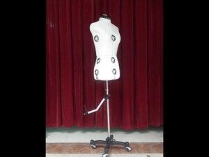 Vente directe d'usine la nouvelle conception, mannequin de couture professionnel de taille réglable avec flanelle blanche de lait