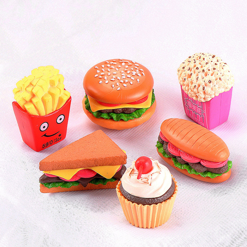 Restaurant Cosplay Fake Fries Hamburger Food Child Boy Girl Toy Small Statue Figurine Craft Figure Miniatures Play House Kitchen